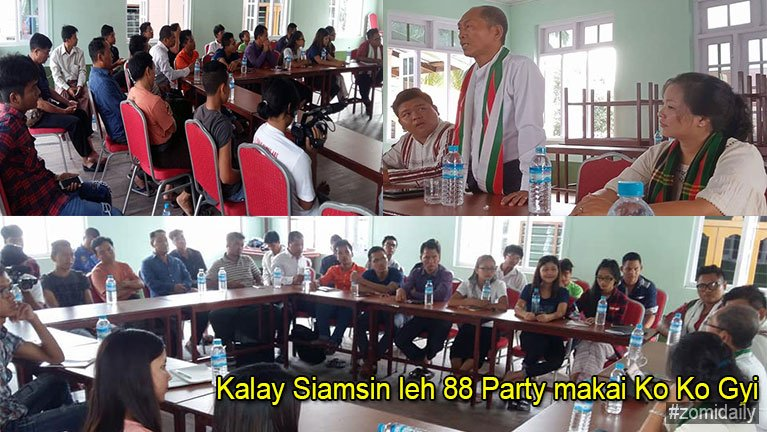 Kalay Siamsin leh 88 Party makai Ko Ko Gyi ki muhkhopna
