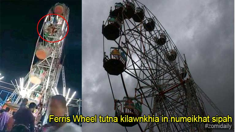 India ah Ferris Wheel tutna kilawnkhia in numeino khat aphual ah sipah, mi 6 liam