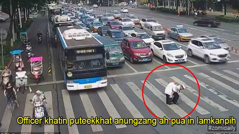 Traffic Police Officer khatin puteek lamkantheilo khat anungzang ah apuak laitak Video kithehzak
