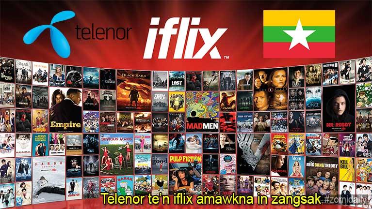 Telenor Myanmar te'n Online Movie ettheih nadingin iflix amawkna in zangsakding