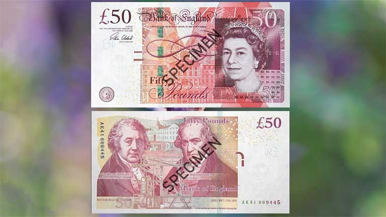 £50, James Watt leh Matthew Boulton