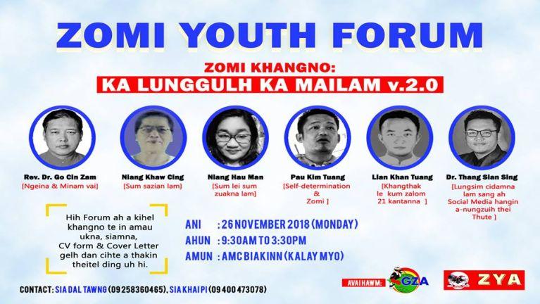 """Zomi Youth Forum: """"Ka lunggulh Ka Mailam v.2.0"""""""