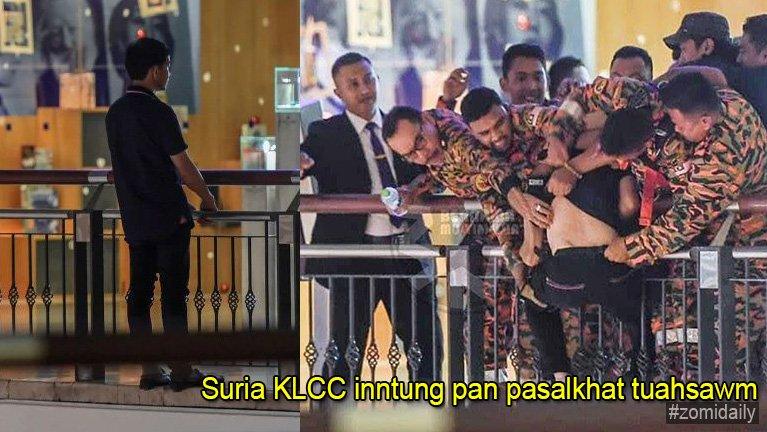 Malaysia, Suria KLCC inndawl 6 na panin pasal khat lenkhiatsawm