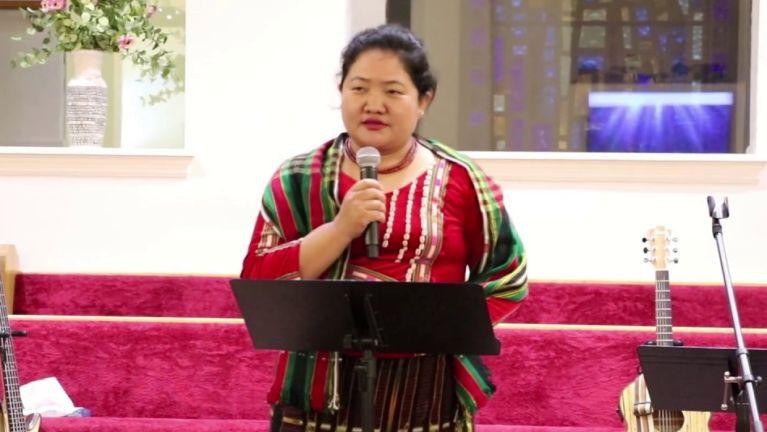 Amyota Hlotdaw MP Pi Cing Ngaih Mang tung aa, lai tin tholh kikna